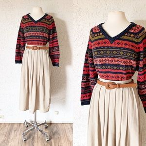 Cottage Sweater with Stitched Detail | Vintage